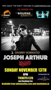 Joseph Arthur Nov 13th